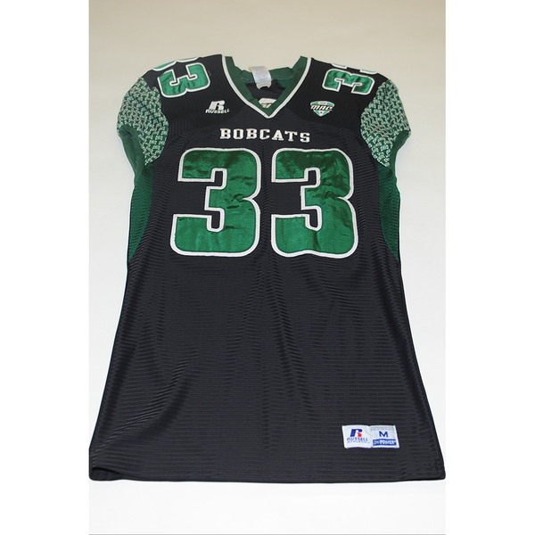 Photo of # 33 - Official OHIO BOBCATS Game Worn Football Jersey (2011) - SIZE MEDIUM
