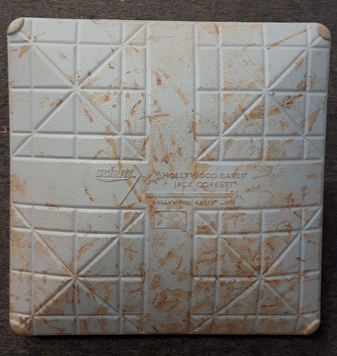Photo of Authenticated Game Used Base - 3rd base for Innings 1 to 5: Miami at Toronto (June 8, 2015)