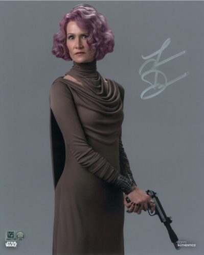 Laura Dern as Vice Admiral Holdo Autographed in Silver Ink 11x14 Photo