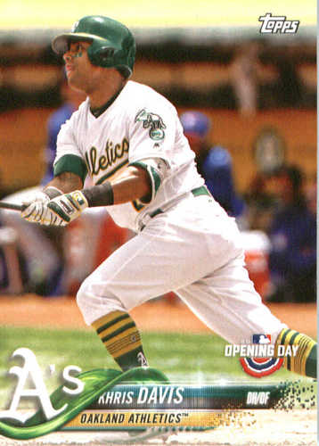 Photo of 2018 Topps Opening Day #76 Khris Davis