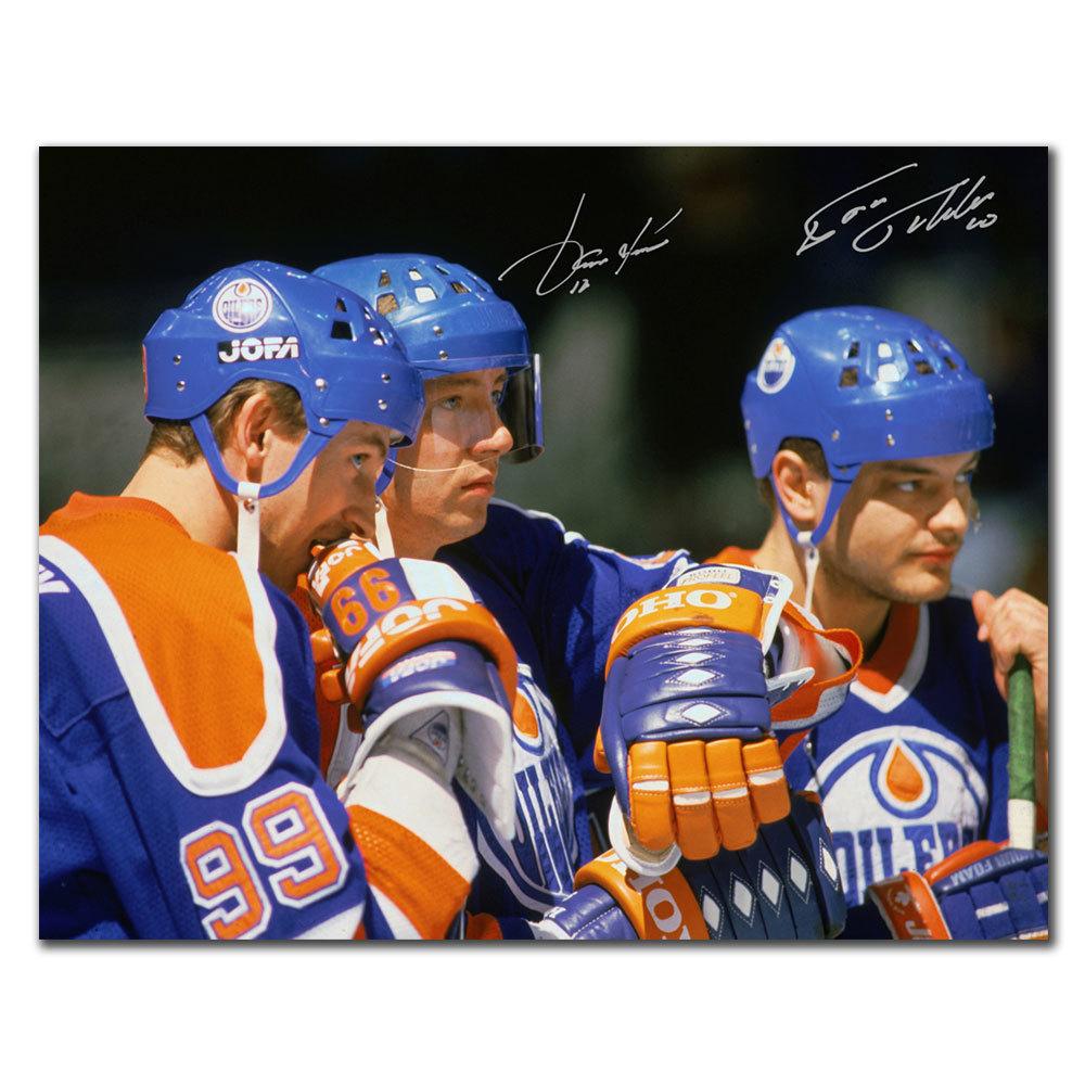 Jari Kurri & Esa Tikkanen Edmonton Oilers GRETZKY Dual Autographed 8x10