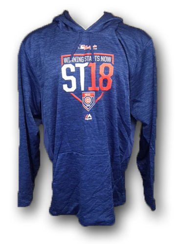Photo of Spring Training Team-Issued Warmup Hoodie -- Willson Contreras -- Size: Large