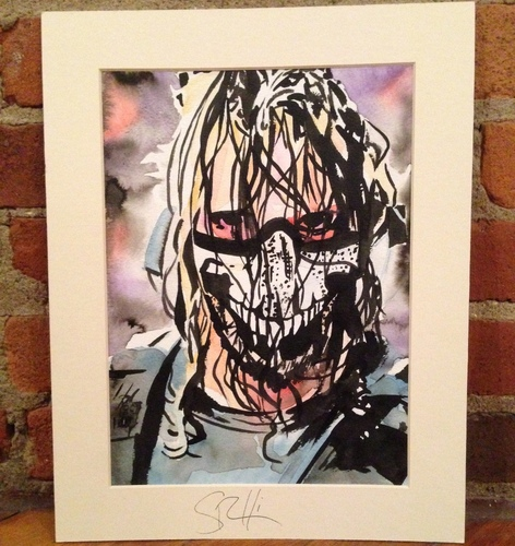 Seth Rollins Signed Painting by Rob Schamberger
