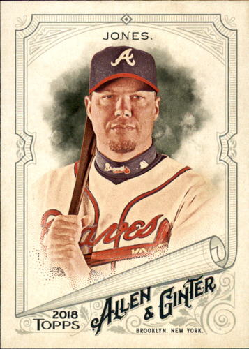 Photo of 2018 Topps Allen and Ginter #162 Chipper Jones
