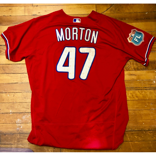 Photo of 2016  Spring Training -  Game-Used Jersey - Charlie Morton (Phillies) - Size 50