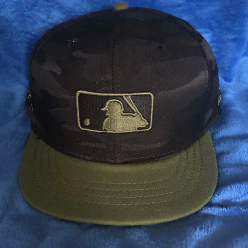 Photo of UMPS CARE AUCTION: MLB Specialty Black Camo Umpire Plate Cap, Size 7 5/8