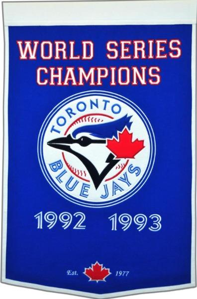 Toronto Blue Jays '92/'93 World Series Dynasty Champs Pennant by Winning Streak Sports