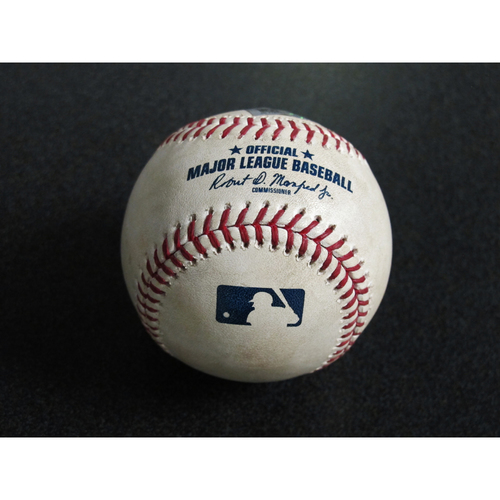 Photo of Game Used Baseball: Pitcher: Yusei Kikuchi, Batters: David Fletcher (Single), Mike Trout (Single) - 5/30/19 vs. LAA