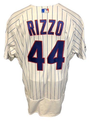 Photo of Anthony Rizzo Game-Used Jersey -- 3 Hits, 2 Runs, 26th HR, Grand Slam -- 9/13/19 -- Pirates vs. Cubs -- To benefit The Anthony Rizzo Family Foundation