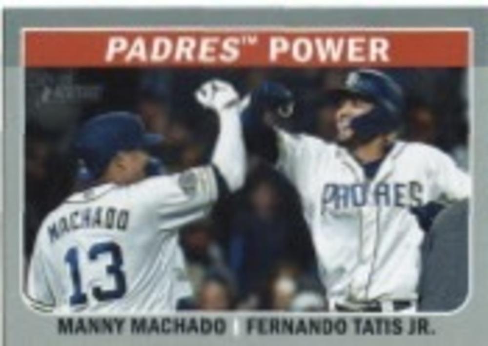 2019 Topps Heritage Combo Cards #CC1 Fernando Tatis Jr./Manny Machado