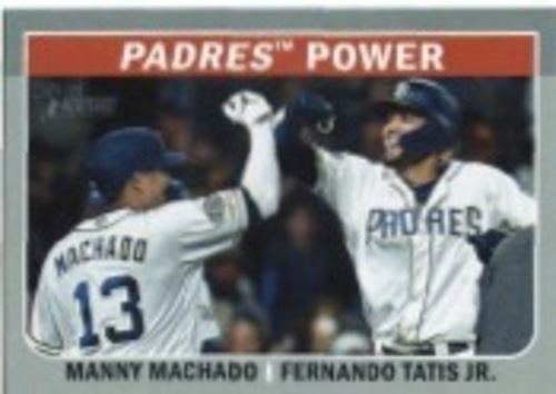 Photo of 2019 Topps Heritage Combo Cards #CC1 Fernando Tatis Jr./Manny Machado