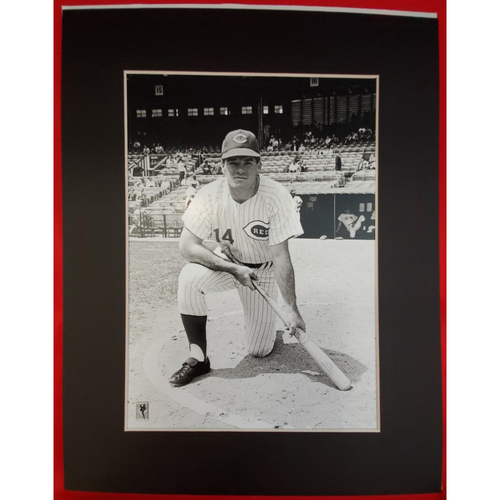 Photo of Matted Pete Rose on Deck - 11x14