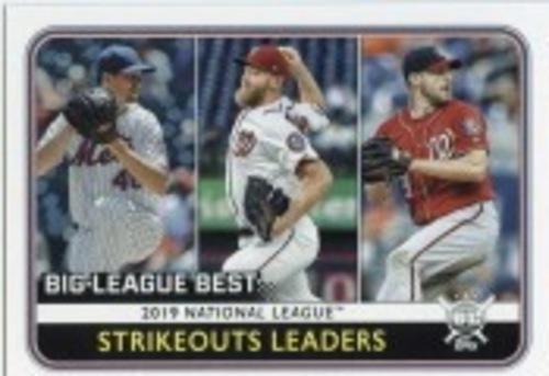 Photo of 2020 Topps Big League #258 Max Scherzer/Jacob deGrom/Stephen Strasburg LL