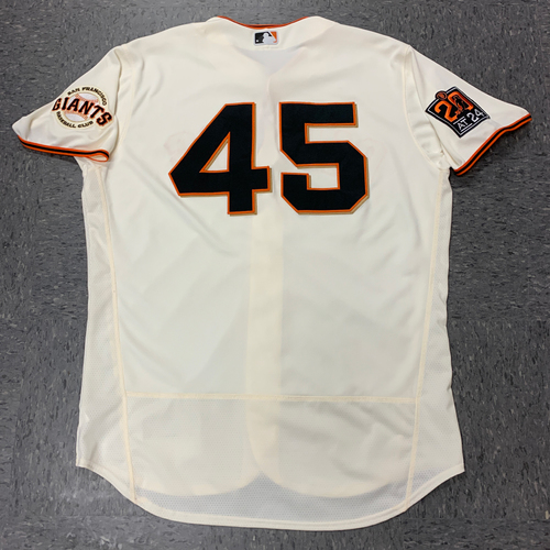 Photo of 2020 Team Issued Home Jersey - worn by #45 Andrew Bailey (Coach) - Size 50