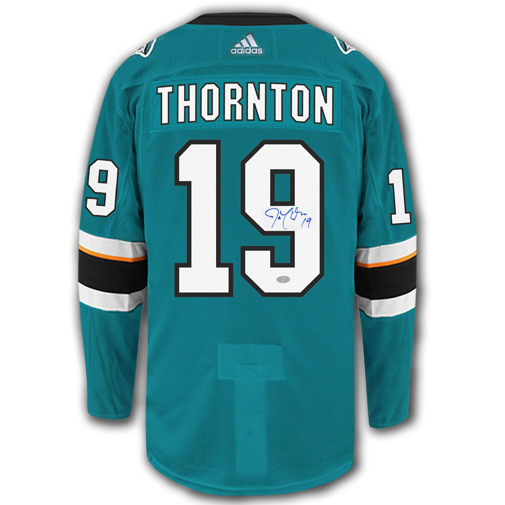 Joe Thornton San Jose Sharks Adidas Pro Autographed Jersey