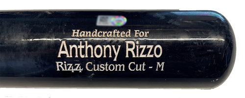 Photo of Anthony Rizzo Game-Used Cracked Bat -- Wade Miley to Anthony Rizzo, Ground Out, Top 1 -- Cubs at Reds -- 4/30/21