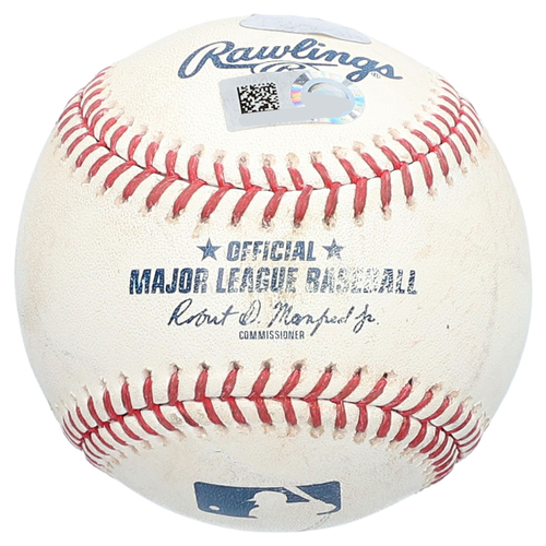 Photo of Ronald Torreyes New York Yankees Game-Used Baseball vs. Chicago White Sox on August 29, 2018 - RBI Single