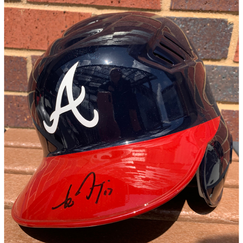 Photo of Johan Camargo MLB Authenticated and Autographed Home Style Helmet