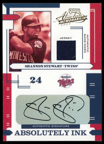 Photo of 2004 Absolute Memorabilia Absolutely Ink Material #111 Shannon Stewart Jsy/100