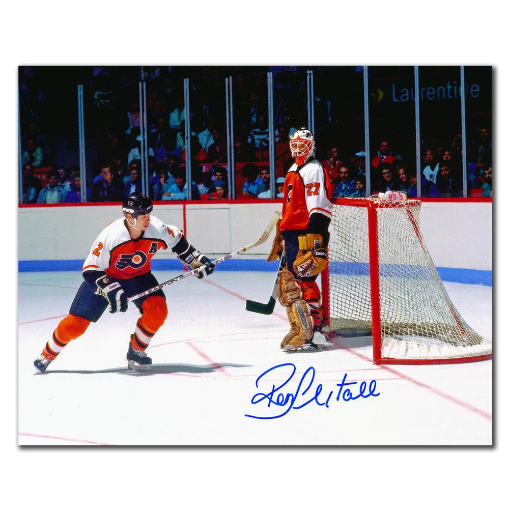 Ron Hextall Philadelphia Flyers w/ Mark Howe Autographed 8x10