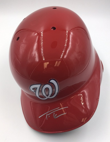 Photo of Trea Turner Autographed Nationals Batting Helmet