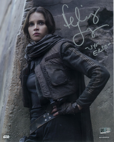 Felicity Jones as Jyn Erso Autographed Inscribed in Silver Ink