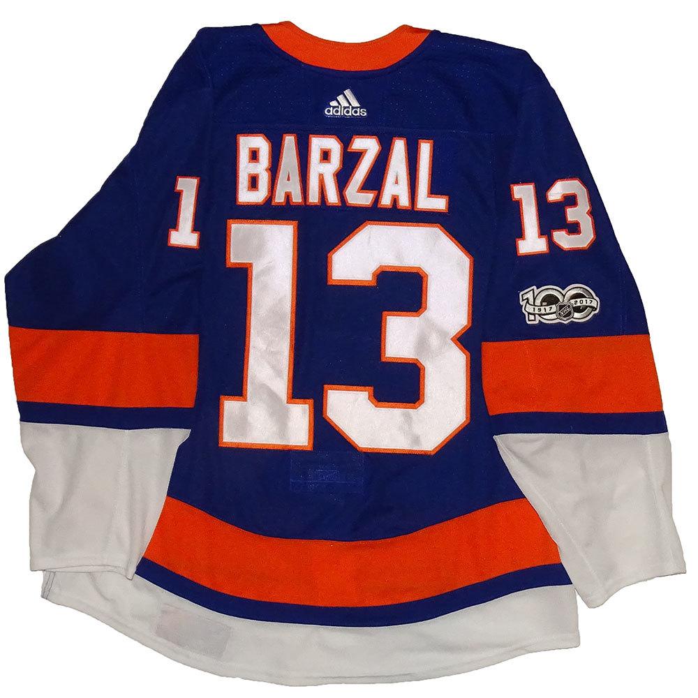 Mathew Barzal - Rookie Game Worn Home Jersey - 2017-18 Season - New York Islanders