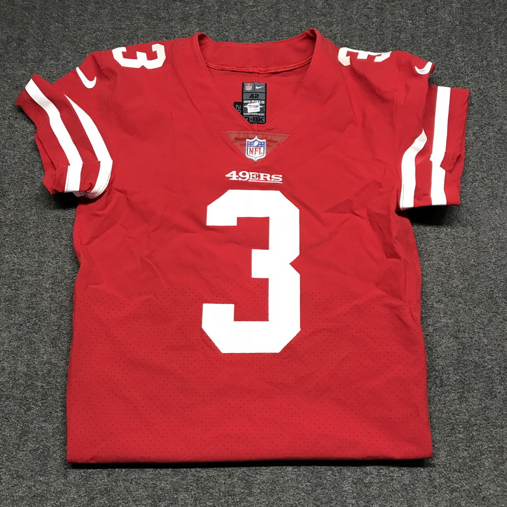 watch db381 0a7b7 NFL Auction | STS - 49ers C.J. Beathard game worn 49ers ...