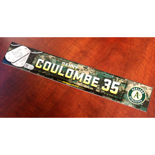 Photo of Danny Coulombe 2018 Team Issued Memorial Day Locker Nameplate