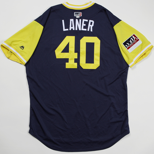 "Photo of Jason ""Laner"" Lane Milwaukee Brewers Game-Used Jersey 2018 Players' Weekend Jersey"