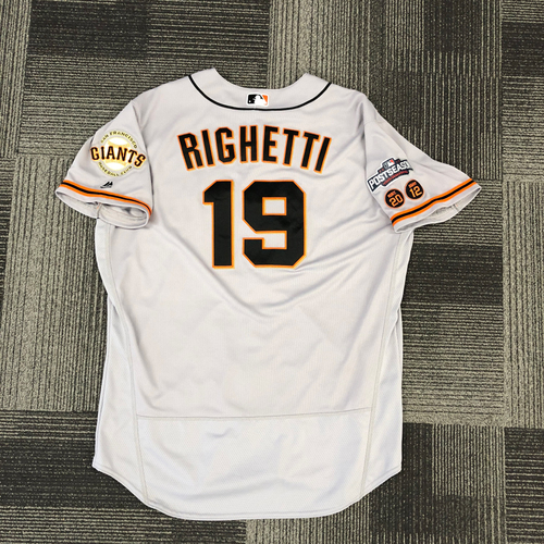 Photo of 2016 Postseason Game Used Jersey - Used by #19 Dave Righetti - Size 50