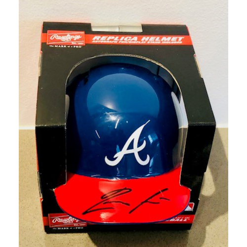 Photo of Ronald Acuna Jr. Autographed Miniature Helmet