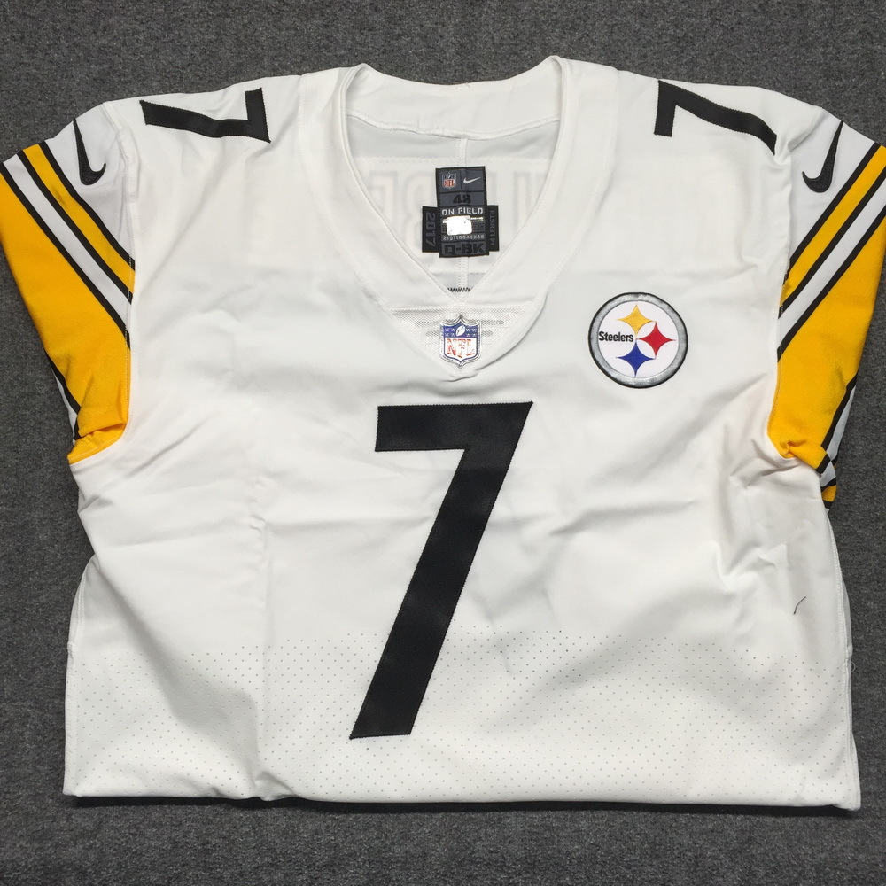 new product c6ec9 45ffe NFL Auction | STS - Steelers Ben Roethlisberger game issued ...