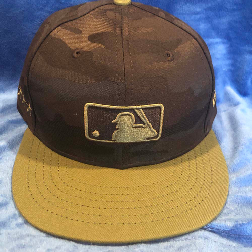 Photo of UMPS CARE AUCTION: MLB Specialty Black Camo Umpire Base Cap, Size 7 1/2
