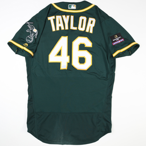 Photo of 2019 Japan Opening Day Series - Game Used Jersey - Beau Taylor, Oakland Athletics at Nippon Ham Fighters -3/17/2019