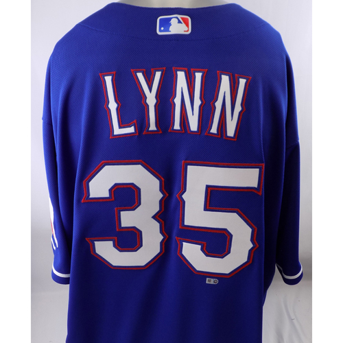Photo of Team-Issued Blue Jersey - Lance Lynn