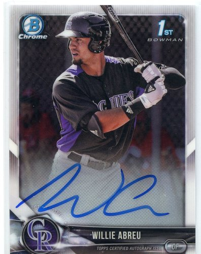 Photo of 2018 Bowman Chrome Prospect Autographs #CPAWA Willie Abreu