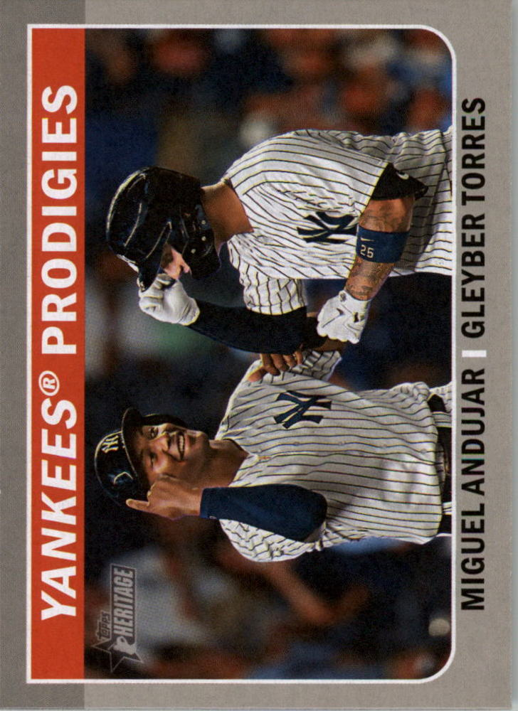 2019 Topps Heritage Combo Cards #CC3 Gleyber Torres/Miguel Andujar