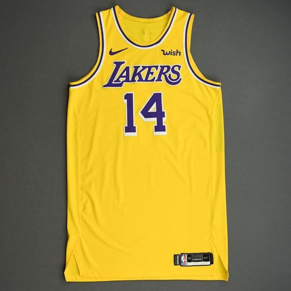 Image of Danny Green - Los Angeles Lakers - NBA China Games - Game-Worn Icon Edition Jersey - 2019-20 NBA Season