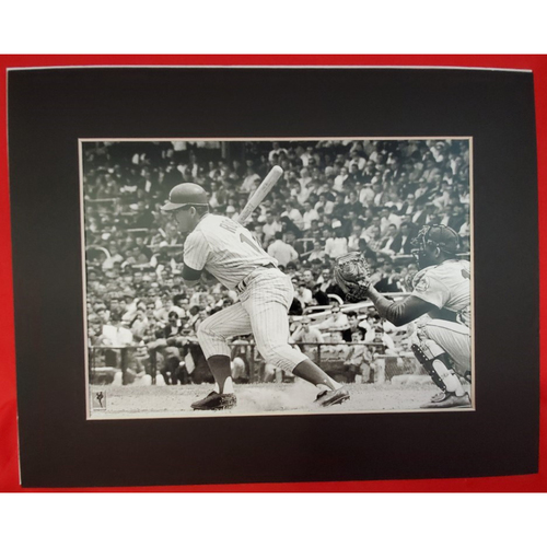 Photo of Matted Pete Rose Single Hit - 11x14