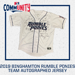 Photo of 2019 Binghamton Rumble Ponies Team Autographed Replica Jersey