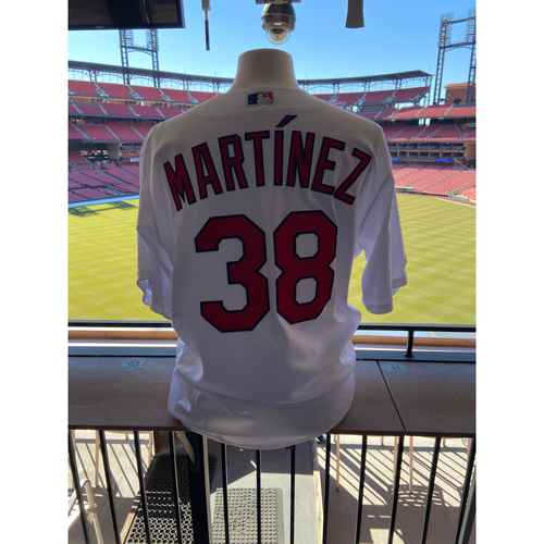 Photo of Cardinals Authentics: Team Issued Jose Martinez Home White Jersey