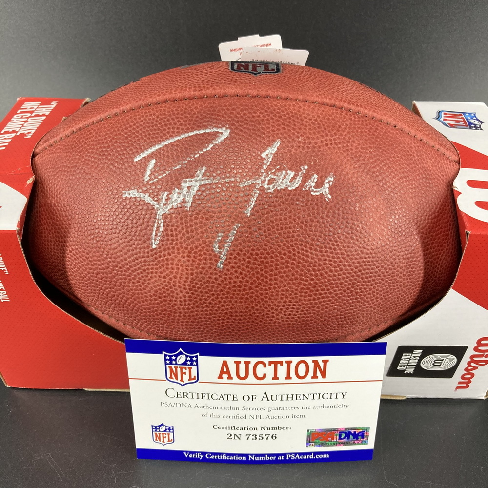 Legends - Packers Brett Favre Signed Authentic Football with 100 Seasons Logo