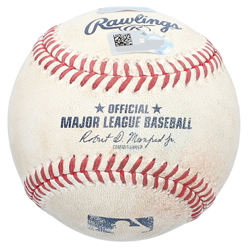 Photo of Starlin Castro New York Yankees Game-Used Baseball vs. Baltimore Orioles on June 10, 2017 - Double