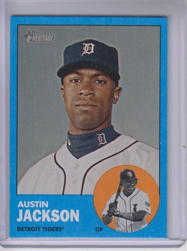 Photo of 2012 Topps Heritage #164B Austin Jackson WM SP