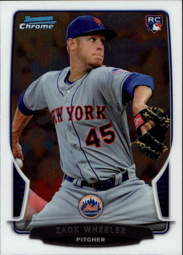 Photo of 2013 Bowman Chrome Draft #20 Zack Wheeler Rookie Card