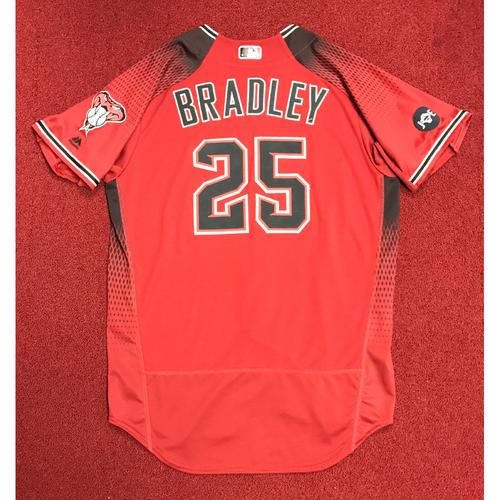 Archie Bradley Team-Issued Red Alternate Jersey