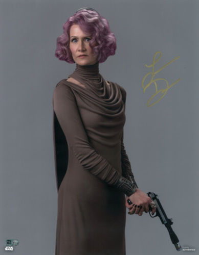 Laura Dern as Vice Admiral Holdo Autographed in Gold Ink 11x14 Photo