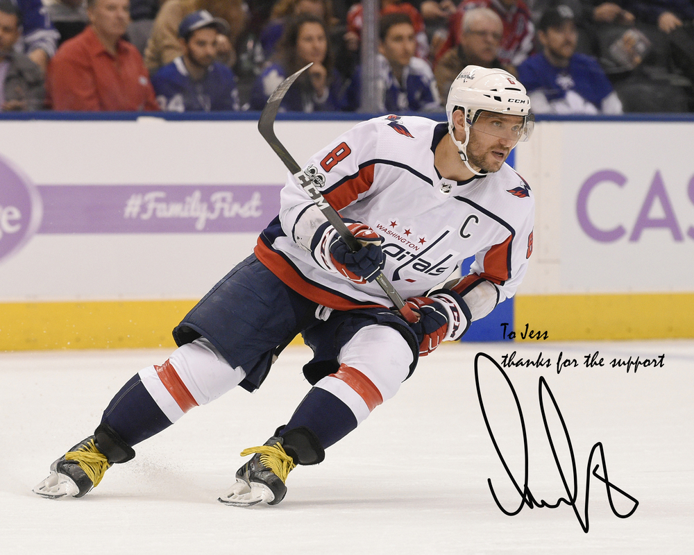 Alexander Ovechkin Washington Capitals Autographed Personalized 8
