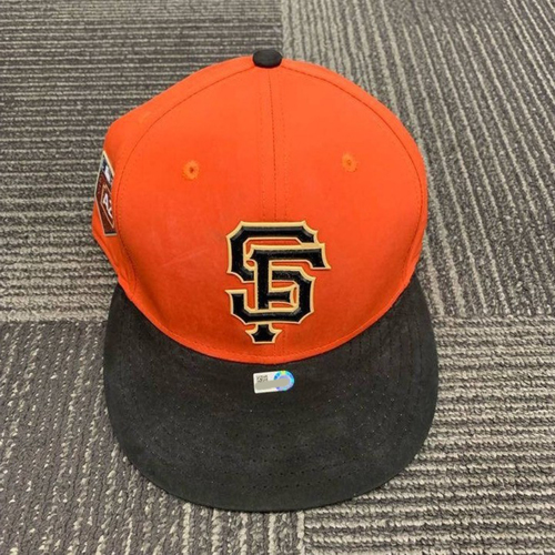 Photo of End of Year Auction - 2018 Game Used Spring Training Cap - size 7 1/8 - worn by #78 Steven Duggar during Exhibition Series vs. OAK on 3/27/18